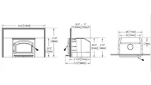 Specs for the Oakdale 1101 Wood Fireplace Insert