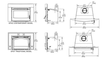 Specs for the Oakdale EPI3 Series Wood Fireplace Insert