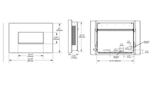 Specs for the Plazmafire Vent Free Gas Fireplace 24 Inch