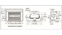 Specs for the Roxbury 3600 Natural Draft Fireplace With Faceplate & Flashing
