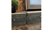 Allegheny Steel Mantel Shelf banding detail