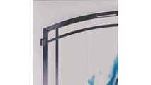 Cascadian Arch Conversion Fireplace Door corner detail