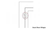 Hinge detail for flush fit doors