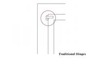 Traditional hinge detail