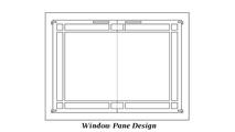 Window Pane door design
