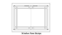 Window Pane door design