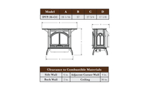 Specs for the Heritage Direct Vent Gas Stove 20 Inch
