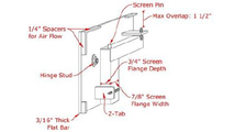 Cascadian fireplace door mounting diagram