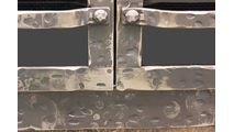 Allegheny Aged Steel Masonry Fireplace Door detail