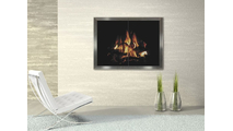 Biscayne Hidden Frame Masonry Fireplace Door Installation