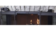 Hudson RC Masonry Fireplace Door - remote controlled cable roller system