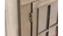 Edison Masonry Fireplace Door frame detail