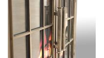 Edison Masonry Fireplace Door handles detail