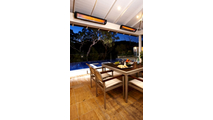 Outdoor Patio with Two Tungsten Heaters