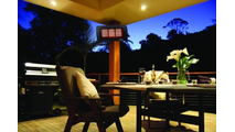 Patio Scene with Bromic 300 Gas Heater