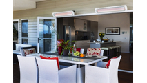 White Patio Electric Heater