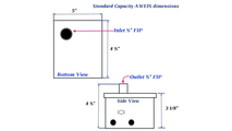 Control box dimensions for the standard capacity AWEIS