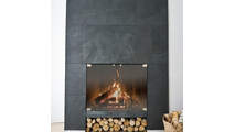 Vanguard Thinline Masonry Fireplace Door - setting
