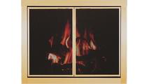 Overlay Zero Clearance Fireplace Mesh Door in Antique Brass