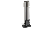Stainless Contemporary Fireplace Tool Set In Matte Black Finish
