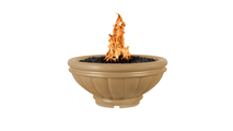 Roma fire bowl shown in brown