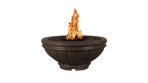 Roma fire bowl shown in chocolate