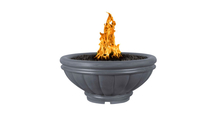 Roma fire bowl shown in gray