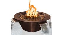 Cadiz 4 Way Round Copper Fire & Water Bowl