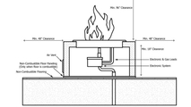 Installation diagram for the Martillo round copper gas fire pit 48 inch