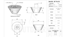 Martillo fire pit 48 inch specs sheet