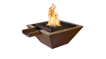 Madrid Square Raised Copper Fire & Water Bowl