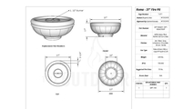 Roma fire bowl 37 inch specs