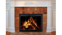 The Breckinridge fireplace door is designed for masonry fireplaces