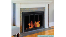 Chesterfield fireplace door for masonry fireplace - shown without 2 inch riser bar
