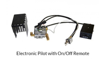 Electronic pilot (EPK-2) is controlled with and on/off ignitor switch or remote.