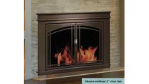 Farnworth Fireplace Door Installed -  - Shown riser bar NOT installed