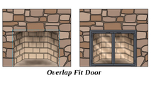 The Chesterfield fireplace door is designed as an overlap fit enclosure