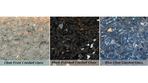 Crushed Glass options - 8 square feet of one color choice included