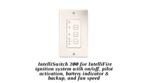 The wall switch for the Twilight II Modern gas fireplace is compatible with the included Intellifire ignition