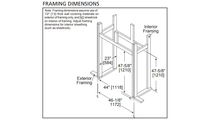 Framing specs for Twilight II indoor\outdoor see through gas fireplace
