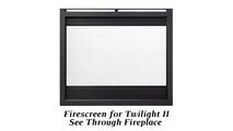 Optional firescreen for the Twilight II indoor outdoor gas fireplace