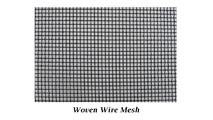 Woven wire mesh screen for value plus triple panel fireplace screen
