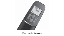 Optional electronic remote that controls temperature, flame height and more!