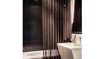 Antique Bronze Serenity Mesh Shower Curtain