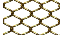 Satin Brass Mesh Curtain Close Up