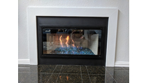 Customer install - Brookfield Zero Clearance Fireplace Door 4 sided overlap fit