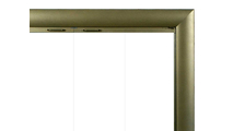 Bungalow Custom Fireplace Door in Vintage Brass artisan finish - top right corner detail
