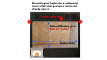 How to measure your fireplace for a replacement mesh curtain when you have a rod already installed.