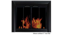 The Chesterfield masonry fireplace door shown without 2 inch riser bar