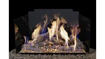 Real Fyre Contemporary Fyreback in Black Porcelain Stainless Steel